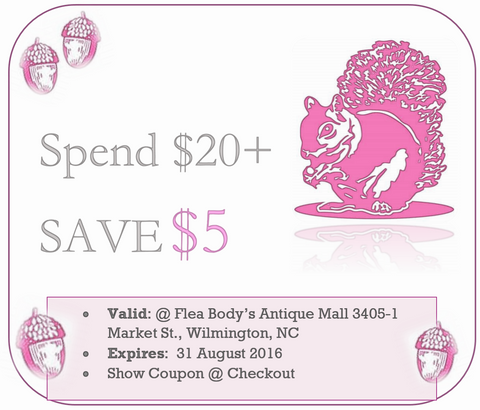 Pink Squirrel Shop $5 off coupon