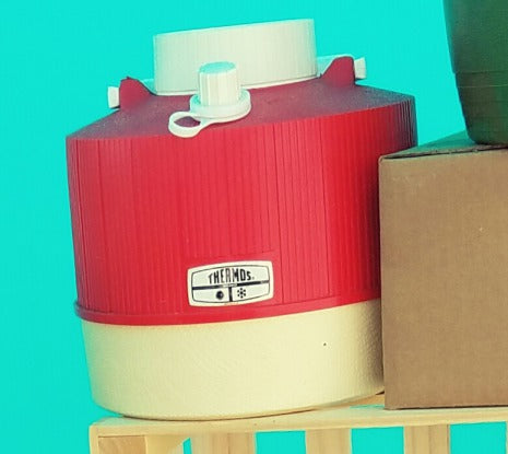 Vintage Thermos cooler - part of prize basket July 4th Facebook like & share contest