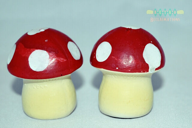 Vintage mushroom salt and pepper shakers