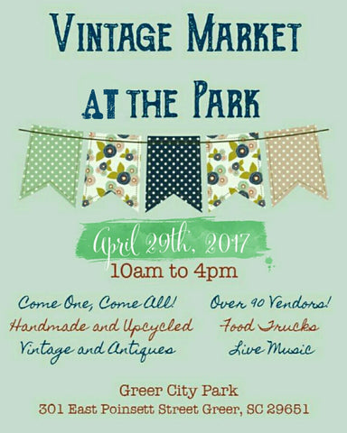 Vintage market at the park flyer