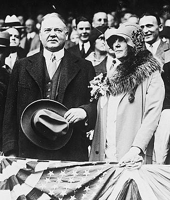President Hoover at World Series 1929