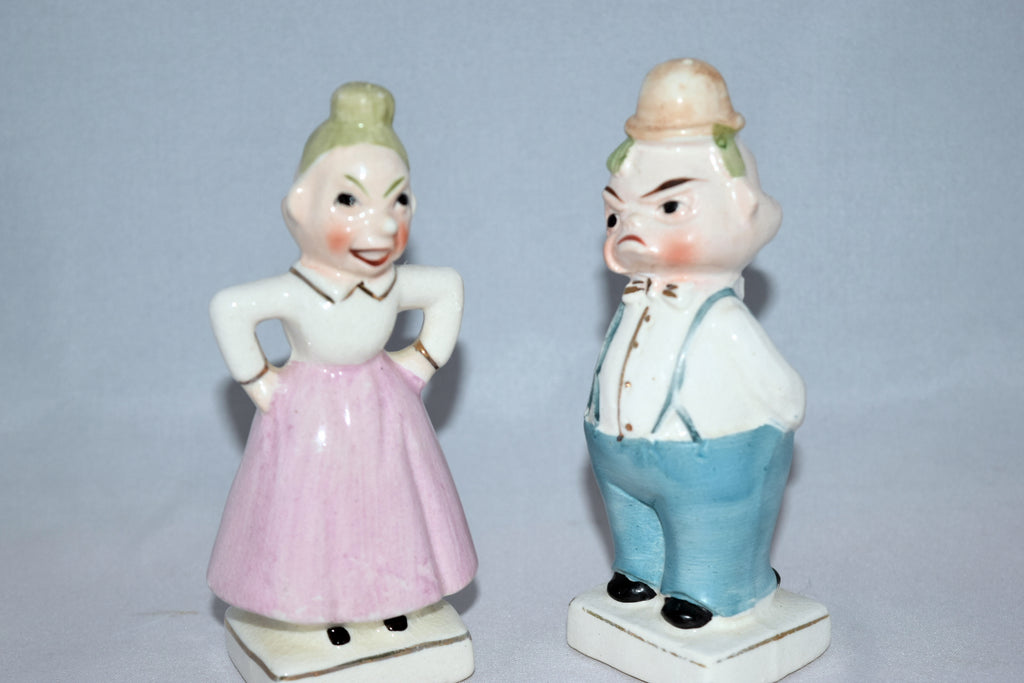 Vintage old man and woman salt and pepper shakers