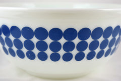 Pyrex blue dots milk glass mixing bowl popular pyrex pattern