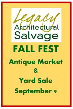 Legacy Architectural Salvage Fall Antique Fest event flyer