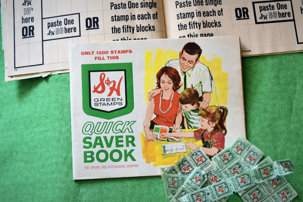 Vintage S&H Green stamp book