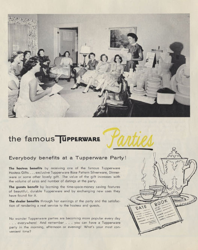 Tupperware Party Vintage Advertisement