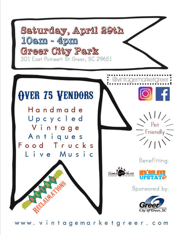 Vintage Market at the Park flyer back