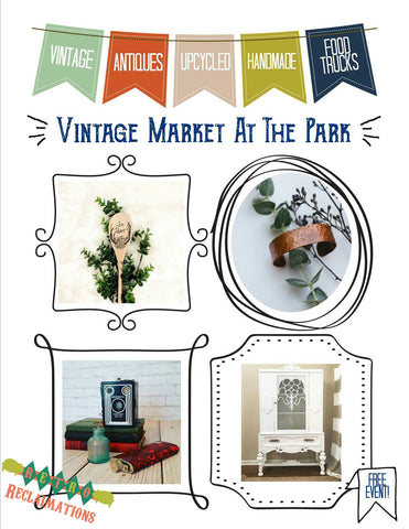 Vintage Market at the Park flyer front