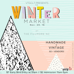 Vintage Charlotte Winter Market Flyer