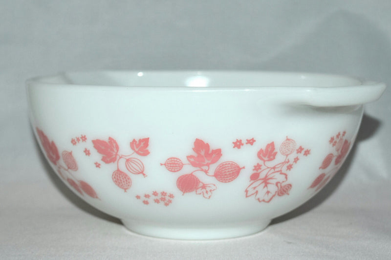 "Vintage Glassware-Pyrex-Pink ""Gooseberry""-Cinderella Mixing Bowl #443 - Retro Reclaimations - 12"