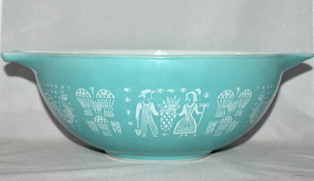 Vintage Glassware-Pyex-Butterprint-Cinderella Mixing Bowl #444 - Retro Reclaimations - 1