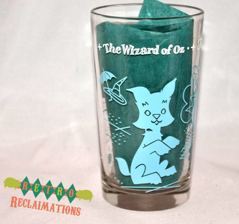 Vintage Glassware-Peanut Butter Glass-Swift & Co.-Wizard Of Oz-Toto-1950s - Retro Reclaimations - 3
