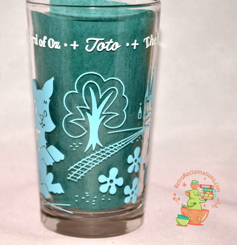 Vintage Glassware-Peanut Butter Glass-Swift & Co.-Wizard Of Oz-Toto-1950s - Retro Reclaimations - 2