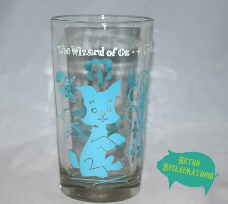Vintage Glassware-Peanut Butter Glass-Swift & Co.-Wizard Of Oz-Toto-1950s - Retro Reclaimations - 1