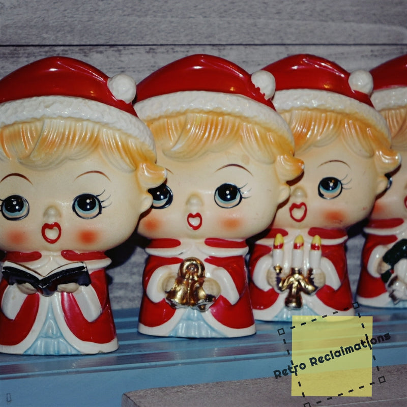 Vintage Holiday-Lipper Mann-Children's Choir-Kitsch