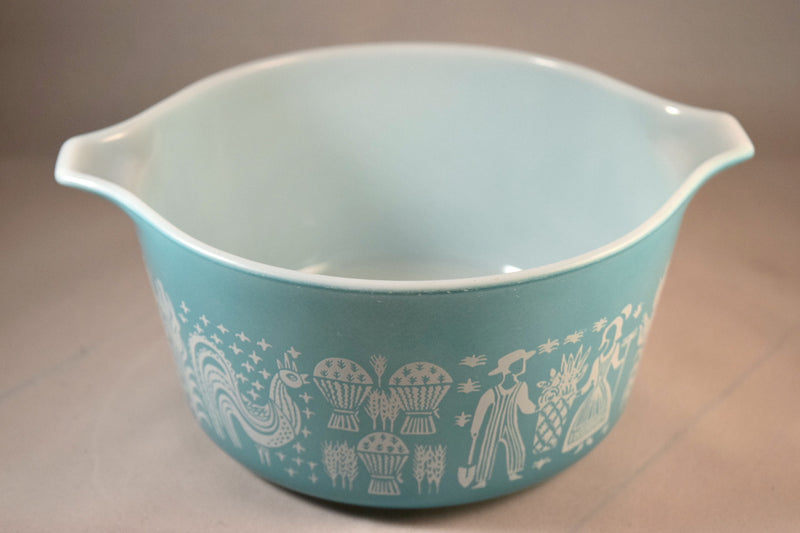 Pyrex Butterprint Covered Round Casserole #473 1.5 Quart - Retro Reclaimations - 4