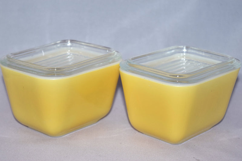 Vintage Glassware-Refrigerator Dish-Pyrex-Yellow-(2) available - Retro Reclaimations - 2