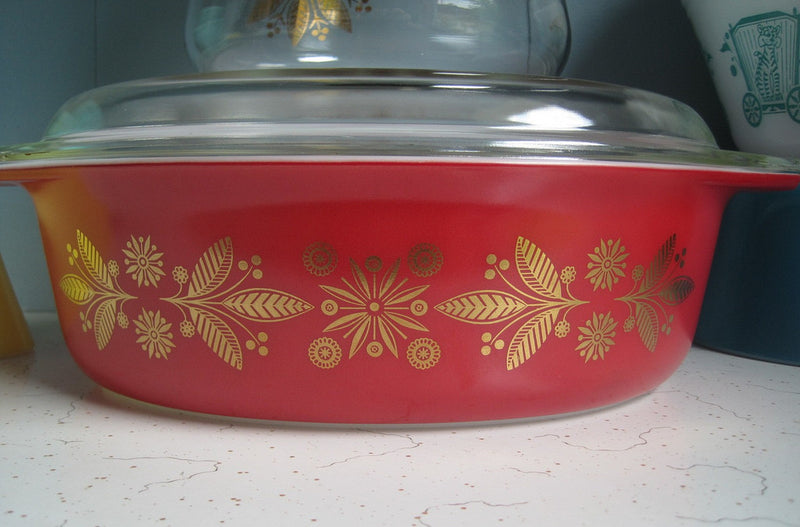 Vintage Glassware Golden Poinsettia Pyrex product image
