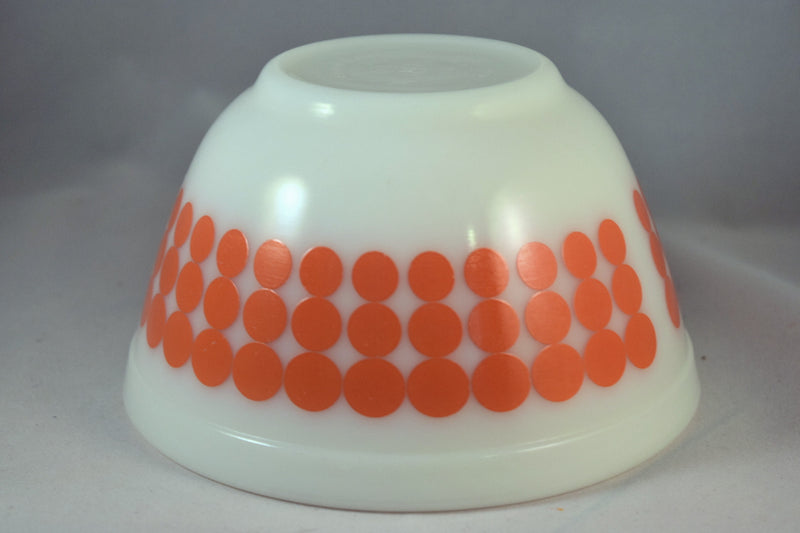 Vintage Glassware-Pyrex-Mixing-Nesting-Bowl-Orange Dot - Retro Reclaimations - 7