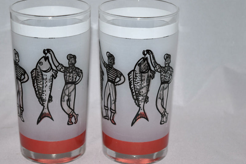 Vintage Barware-Libbey-1950s-Fishermen-Fish Story-Highball - Retro Reclaimations - 7