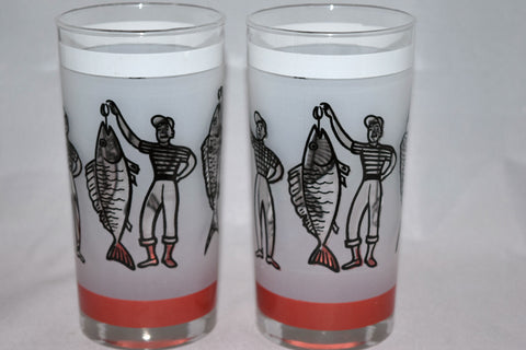 Vintage Barware-Libbey-1950s-Fishermen-Fish Story-Highball - Retro Reclaimations - 6