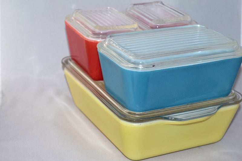 Vintage Glassware-Refrigerator Dishes-Pyrex-Primary Colors - Retro Reclaimations - 2