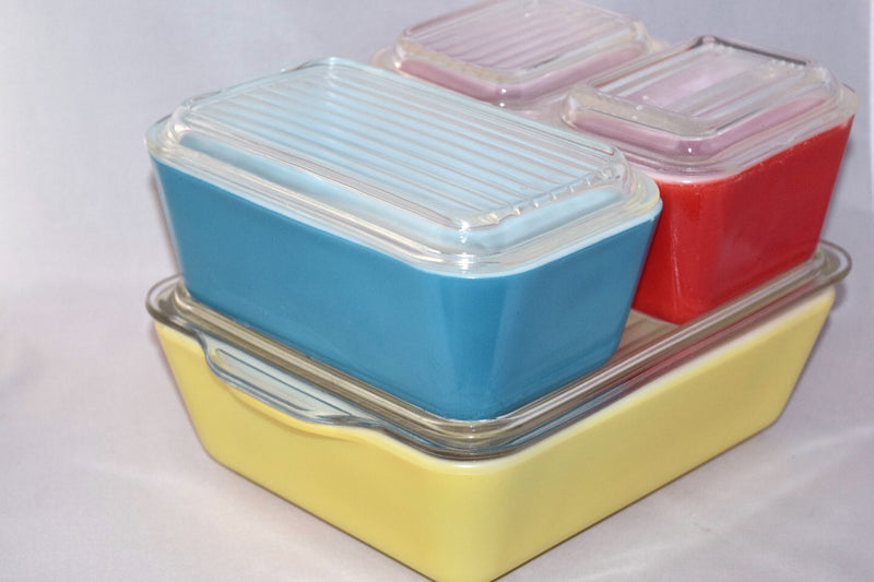 Vintage Glassware-Refrigerator Dishes-Pyrex-Primary Colors - Retro Reclaimations - 1