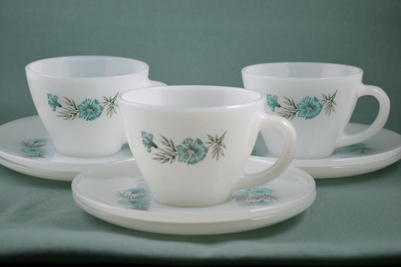 Fire King,Fire King Cups & Saucer Sets - Vintage Glassware RetroReclaimations.com