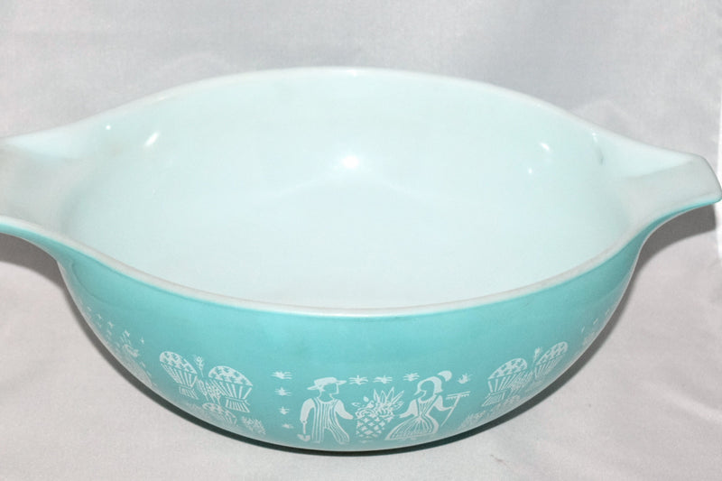 Vintage Glassware-Pyex-Butterprint-Cinderella Mixing Bowl #444 - Retro Reclaimations - 2