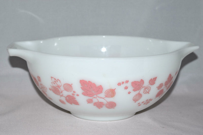 "Vintage Glassware-Pyrex-Pink ""Gooseberry""-Cinderella Mixing Bowl #443 - Retro Reclaimations - 1"