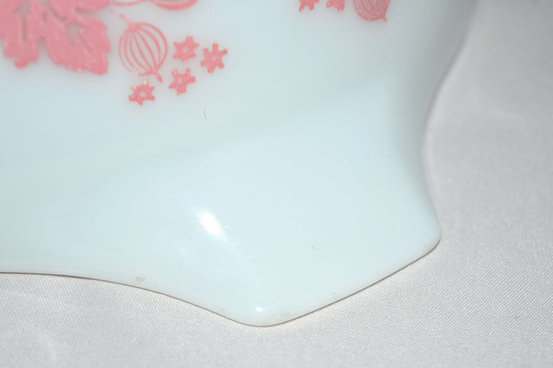 "Vintage Glassware-Pyrex-Pink ""Gooseberry""-Cinderella Mixing Bowl #443 - Retro Reclaimations - 9"