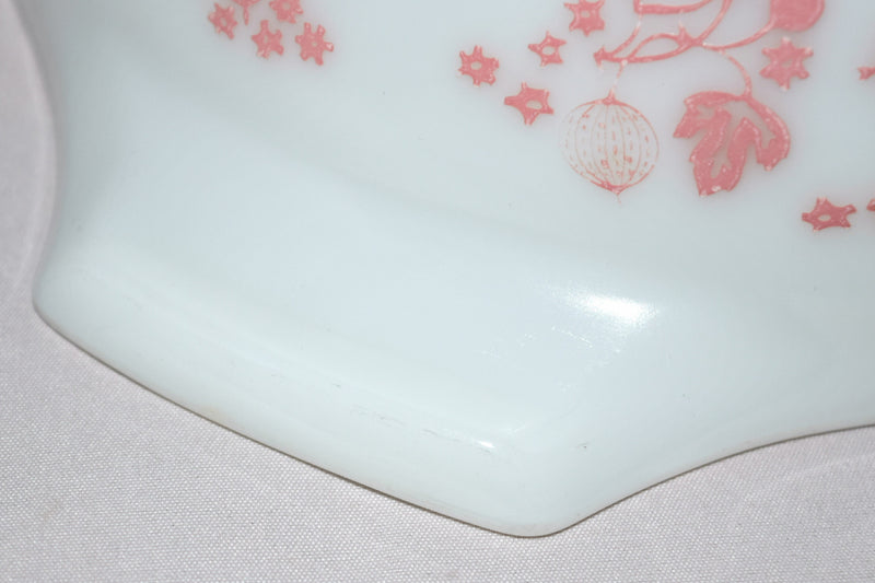 "Vintage Glassware-Pyrex-Pink ""Gooseberry""-Cinderella Mixing Bowl #443 - Retro Reclaimations - 8"