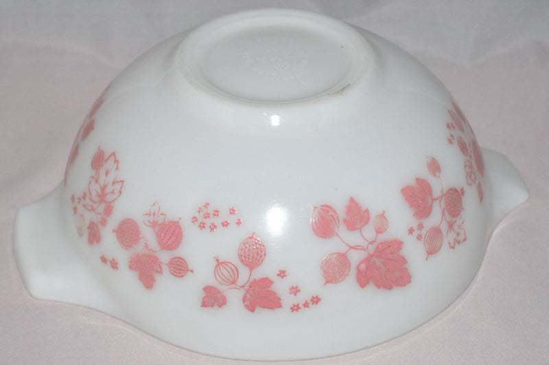 "Vintage Glassware-Pyrex-Pink ""Gooseberry""-Cinderella Mixing Bowl #443 - Retro Reclaimations - 7"