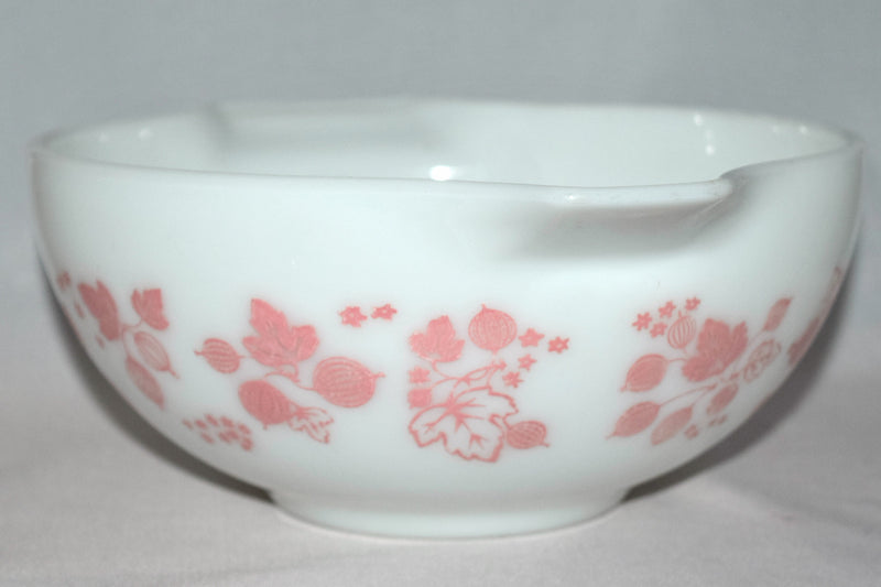 "Vintage Glassware-Pyrex-Pink ""Gooseberry""-Cinderella Mixing Bowl #443 - Retro Reclaimations - 5"