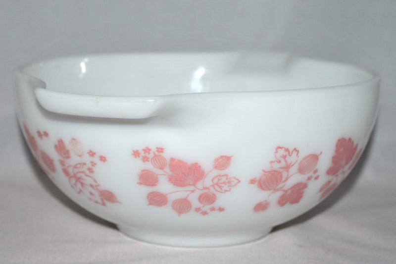 "Vintage Glassware-Pyrex-Pink ""Gooseberry""-Cinderella Mixing Bowl #443 - Retro Reclaimations - 2"