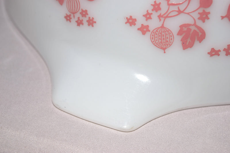 "Vintage Glassware-Pyrex-Pink ""Gooseberry""-Cinderella Mixing Bowl #443 - Retro Reclaimations - 16"