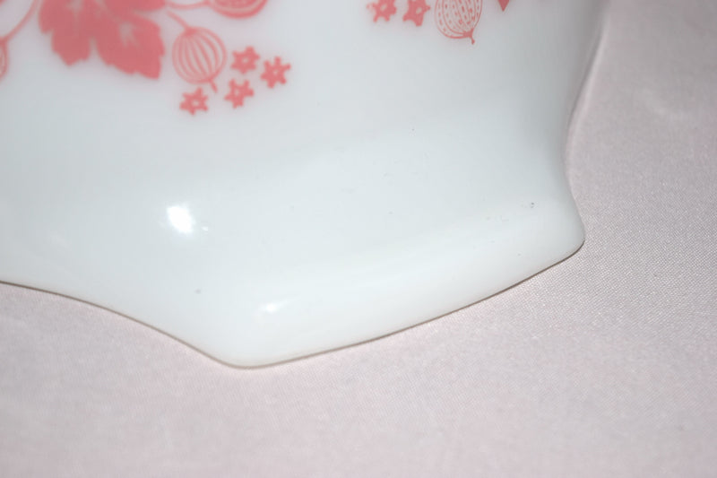 "Vintage Glassware-Pyrex-Pink ""Gooseberry""-Cinderella Mixing Bowl #443 - Retro Reclaimations - 15"