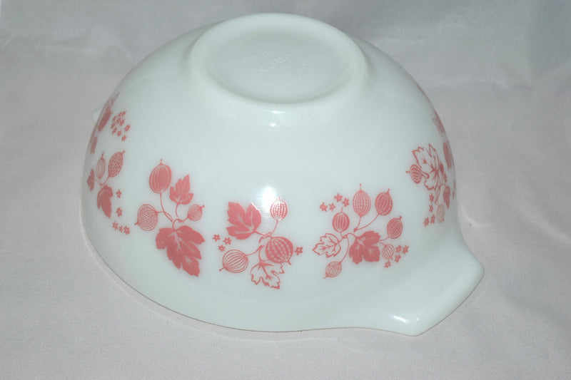 "Vintage Glassware-Pyrex-Pink ""Gooseberry""-Cinderella Mixing Bowl #443 - Retro Reclaimations - 14"