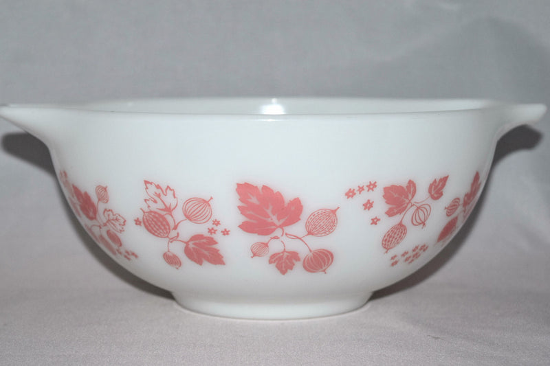 "Vintage Glassware-Pyrex-Pink ""Gooseberry""-Cinderella Mixing Bowl #443 - Retro Reclaimations - 10"