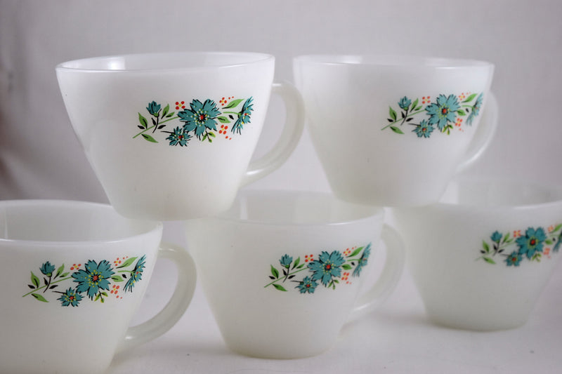 Fire King,Cups & Saucer Sets - Vintage Glassware RetroReclaimations.com