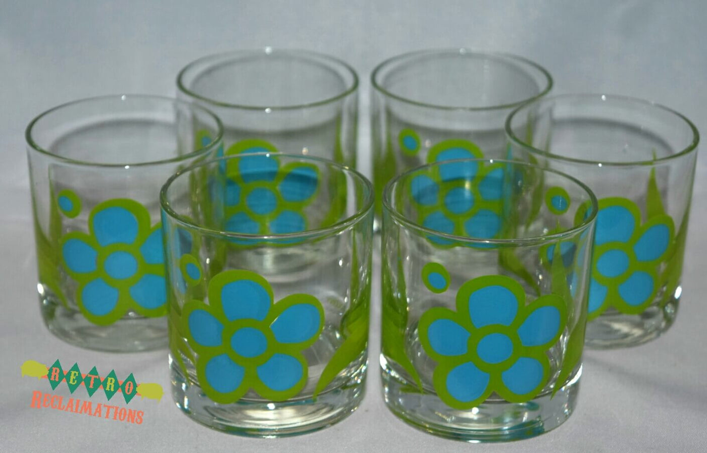 Vintage Barware Colony Bar Set Daisy Mod Flower Power