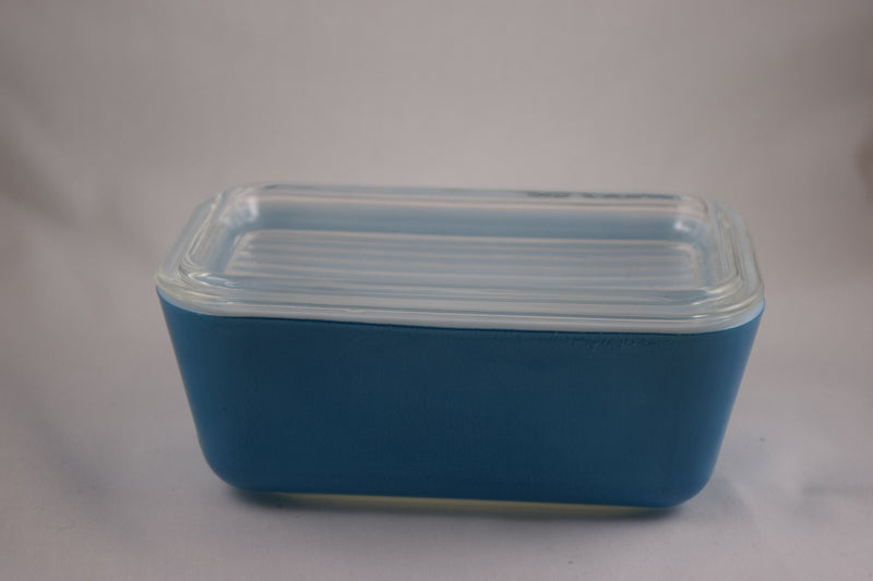 Vintage Glassware-Pyrex-Refrigerator Dish-Primary Colors-Blue-1.5 pint-1945-(1) - Retro Reclaimations - 3