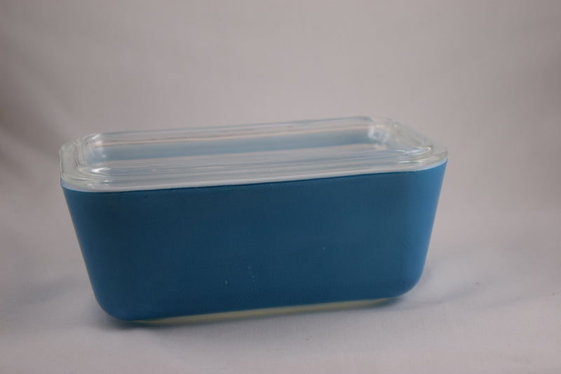 Vintage Glassware-Pyrex-Refrigerator Dish-Primary Colors-Blue-1.5 pint-1945-(1) - Retro Reclaimations - 2
