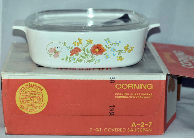 Vintage Corning-Wildflower-2 QT.-Covered Saucepan