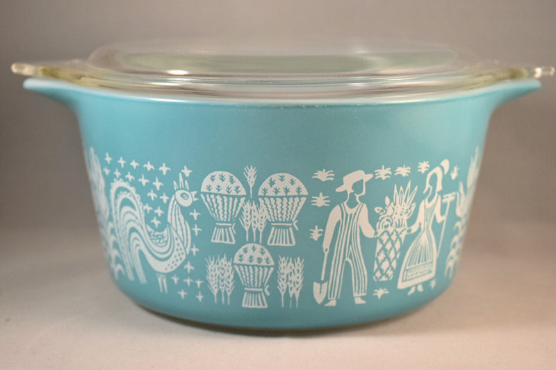 Pyrex Butterprint Covered Round Casserole #473 1.5 Quart - Retro Reclaimations - 2