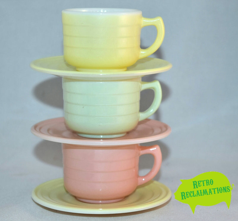 Vintage Glassware-Hazel Atlas-Little Hostess-Tea Set-Pastel - Retro Reclaimations - 15