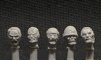 Game Miniatures - Japanese Zombie heads 28mm