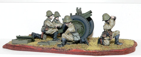 Game Miniatures - Soviet Regimental Artillery (76mm) gun & Crew(5)