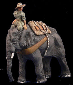 Game Miniatures - Elephant with Allied Driver