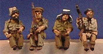 Miniatures British LRDG Crew (4)
